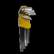 Imbuszkulcs készlet 9 db gömbvéggel CRV