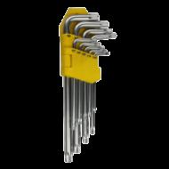 Torx kulcs készlet lyukas 9 db CRV