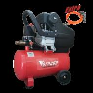 Tornado Légkompresszor 24 liter 8 bar 1,5 LE + tömlő + fúvópisztoly
