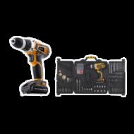 xx Akkumulátoros fúró csavarozó 14,4V Lithium készlet 90 db-os