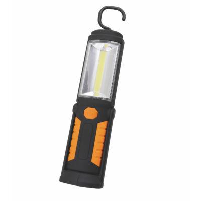 3W COB LED szerelőlámpa + 5 LED elemlámpa