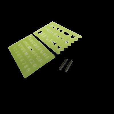 Gravírozóhegy 2db-os készlet + sablon, NXDT15 Gravírozógéphez
