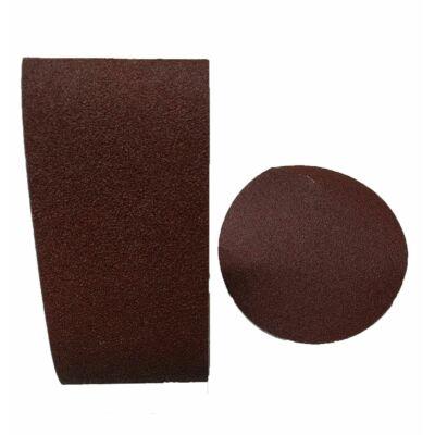 1db szalagcsiszoló papír (P80), 1db csiszolókorong (P80)