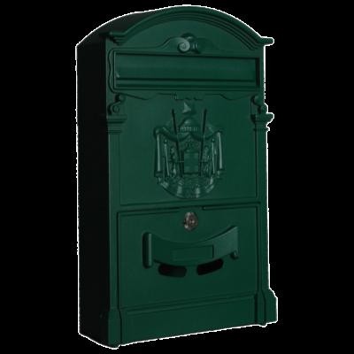 Postaláda 400x255x90mm, alumínium előlap, zöld