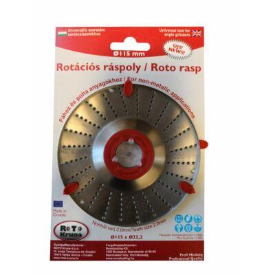 Rotációs ráspoly 115x2 mm, normál