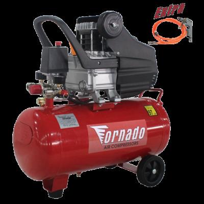 xx Tornado Légkompresszor 24 liter 8 bar 1,5 LE + tömlő + fúvópisztoly